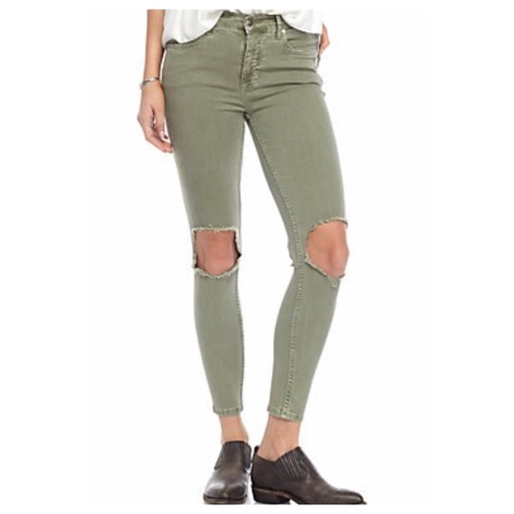 c9fa1c674 Free People Jeans | High Rise Busted Knee Skinny | Poshmark